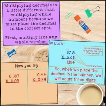 Multiplying Decimals for the Promethean Board