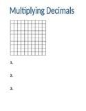 Multiplying Decimals mini anchor chart