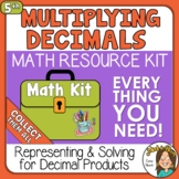Multiplying Decimals to the Hundredths Representing & Solv