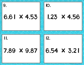 Multiplying Decimals {to the Hundredths} Task Cards