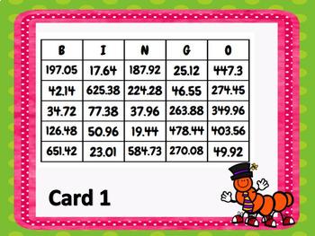 Multiplying Decimals up to the Hundredths Place BINGO  TEKS 5.3E