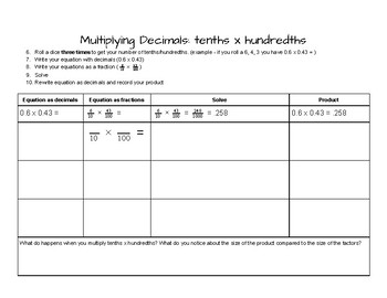Multiplying Decimals using Fractions