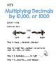 Multiplying Decimals with 10,100,1000