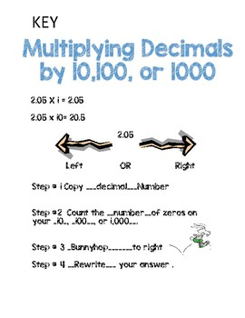 Multiplying Decimals with 10,100,1000