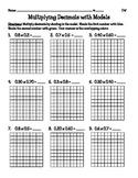 Multiplying Decimals with Models {5.NBT7}