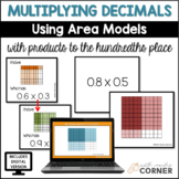 Multiplying Decimals using Area Models, Print and Digital