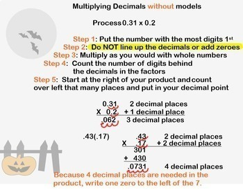Multiplying Decimals withOUT models Multiply Decimals Smartboard Lesson
