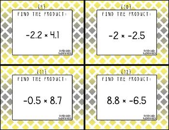 Multiplying & Dividing Decimals 7th Grade Math Task Cards