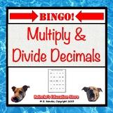 Multiplying & Dividing Decimals Bingo (30 pre-made cards!)