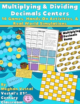 Multiplying & Dividing Decimals Centers