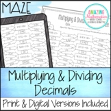 Multiplying & Dividing Decimals Maze