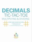 Multiplying & Dividing Decimals Review Activity - Partner Tic Tac Toe