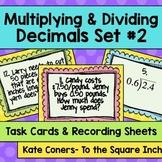 Multiplying & Dividing Decimals Task Cards