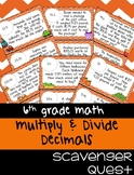 Multiplying & Dividing Decimals Word Problems - Math Scavenger Quest