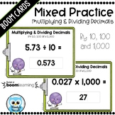 Multiplying & Dividing Decimals by 10, 100 and 1,000 Digital Task Cards