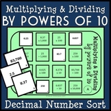 Multiplying & Dividing Decimals by Powers of 10 Sorting Game, 5.NBT.1