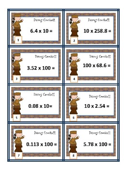 Multiplying & Dividing Decimals with Powers of 10 Game (with & without QR codes)