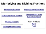 Multiplying Dividing Fractions Bell Ringers Mixed Numbers Equations Word Problem