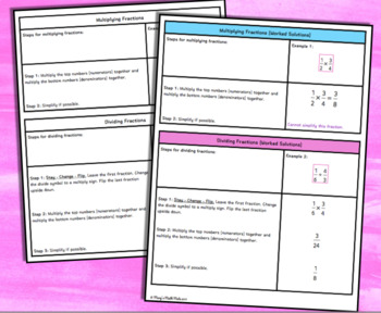Multiplying & Dividing Fractions (with Scaffolded Notes): Coloring Page