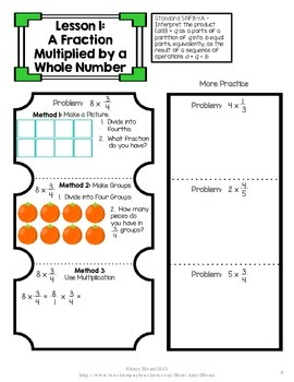 Multiplying & Dividing Fractions Interactive Notebook INB Unit 4th & 5th Grade