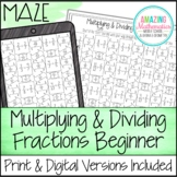 Multiplying & Dividing Fractions Worksheet (Beginner) - Ma