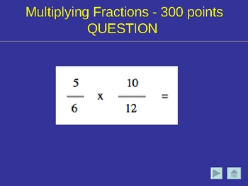 Multiplying & Dividing Fractions & Order of Ops Jeopardy(R)