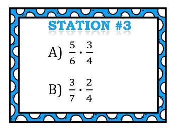 Multiplying & Dividing Fractions Stations