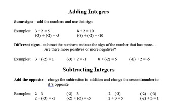 Integer Notes