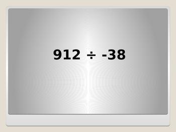 Multiplying & Dividing Integers BINGO!  7.NS.2
