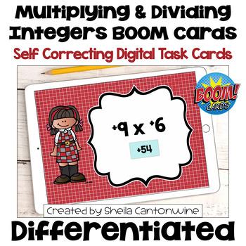 Multiplying and Dividing Integers Digital Task Cards - BOOM Cards