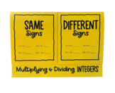 Multiplying & Dividing Integers (Foldable)