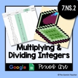 Multiplying & Dividing Integers | Google Sheets Pixel Art