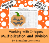 Multiplying & Dividing Integers Halloween Activity