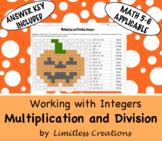Multiplying & Dividing Integers Halloween Activity