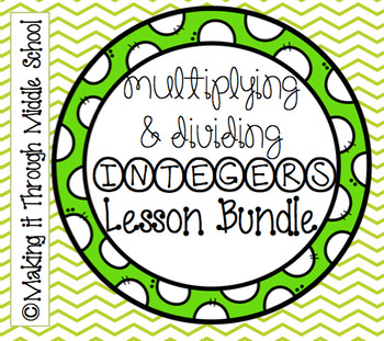 Multiplying & Dividing Integers Lesson