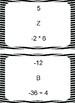 Multiplying & Dividing Integers Scavenger Hunt