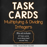 Multiplying & Dividing Integers Task Cards