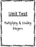 Multiplying & Dividing Integers Test