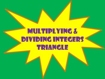 Multiplying & Dividing Integers Triangle