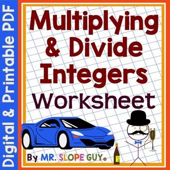 Multiplying & Dividing Integers Using Rules PDF Worksheet 7.NS.A.3