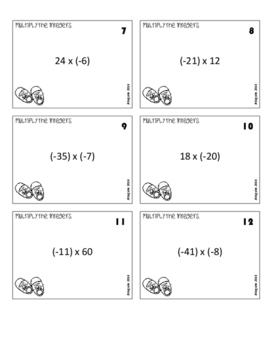 Multiplying & Dividing Integers - You Got Stomped Math Game