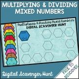 Multiplying & Dividing Mixed Numbers Digital Scavenger Hunt
