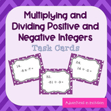 Multiplying & Dividing Positive & Negative Numbers Task Cards