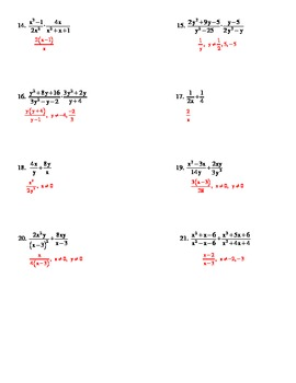 Multiplying & Dividing Rational Expressions
