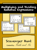 Multiplying/Dividing Rational Expressions Scavenger Hunt