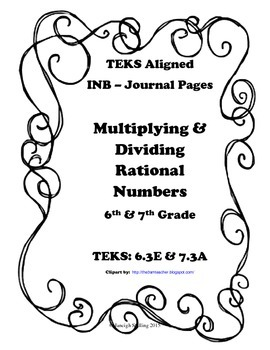 Multiplying & Dividing Rational Numbers INB TEKS 6.3E and 7.3A