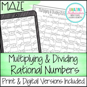 Multiplying & Dividing Rational Numbers Maze