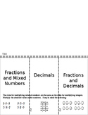 Multiplying Dividing Rational Numbers Negative Fractions Decimals Foldable