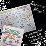 Multiplying & Dividing Scientific Notation - Doodle Notes Brochure for INBs