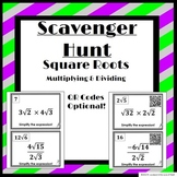 Multiplying & Dividing Square Roots: Scavenger Hunt!